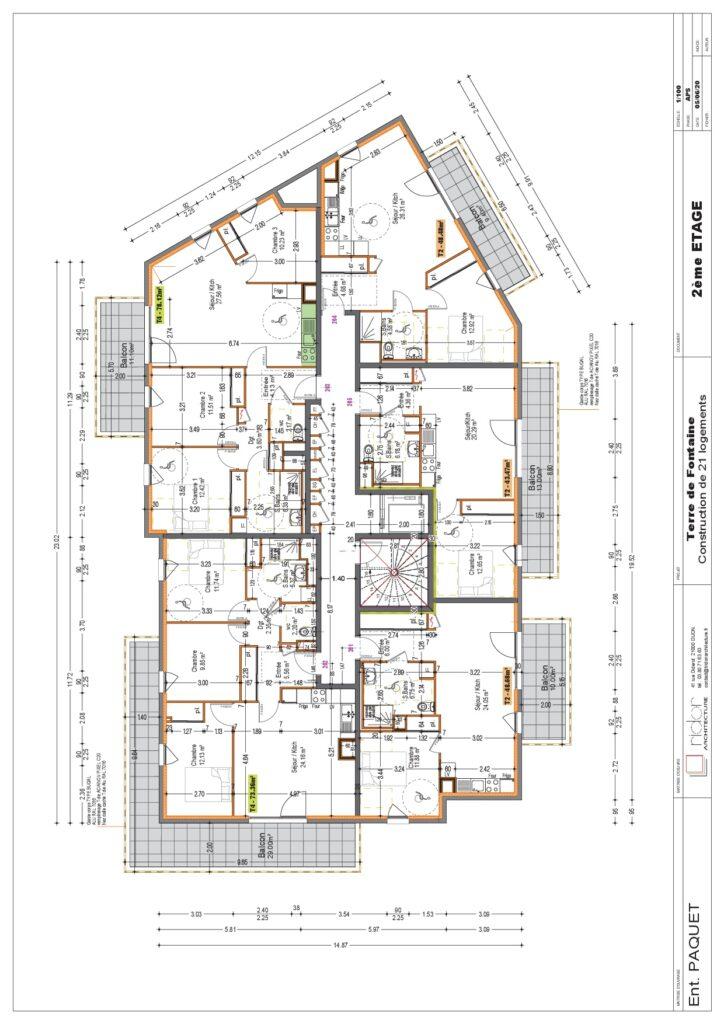 Plan 2eme étage