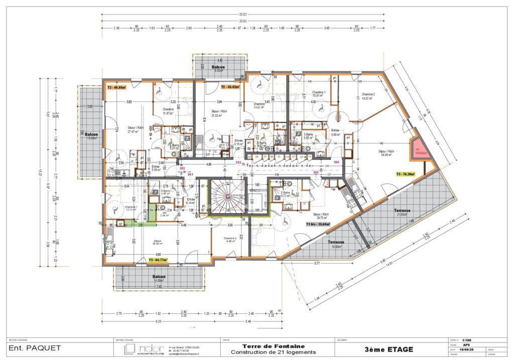 Plan 3eme étage